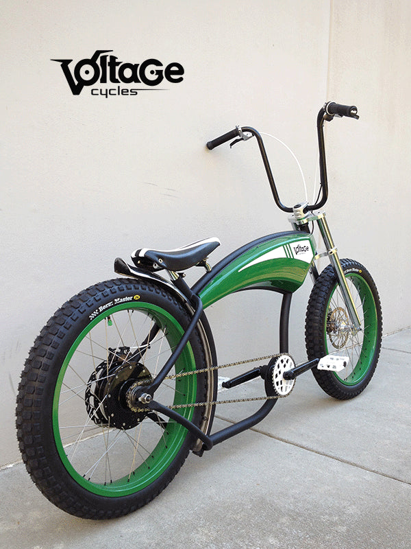 Right Side of Electric Green Machine E-Bike