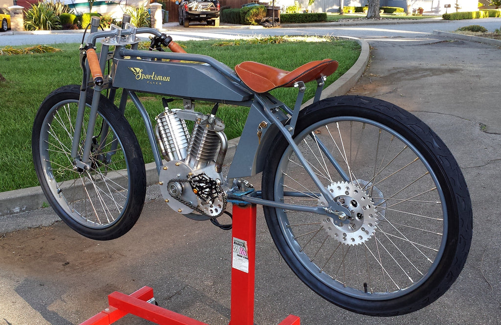 Grey Sportsman electric racing bike