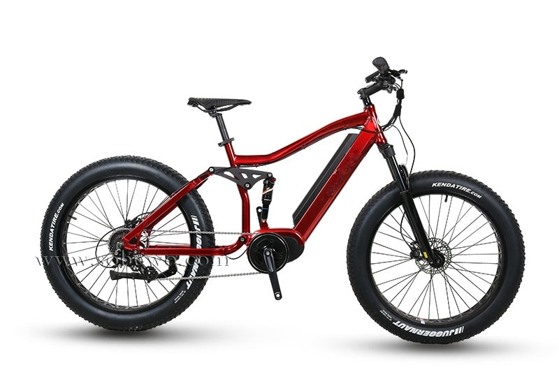 Full Suspension | Fat Tire | Electric Off-Road Bike, full view from right