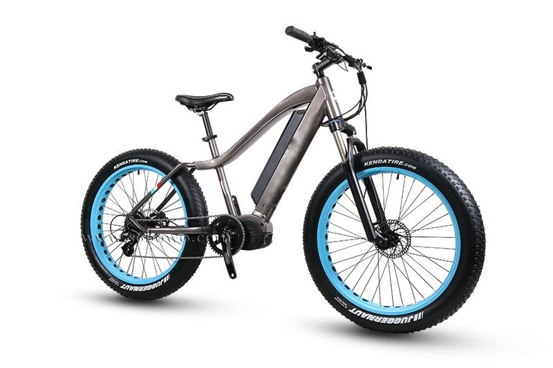 Full Suspension | Fat Tire | Electric Off-Road Bike, with view from front right