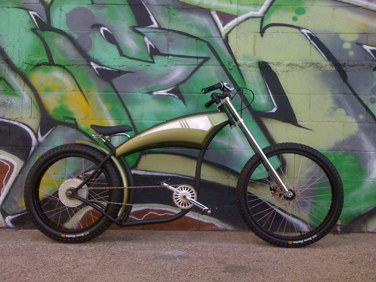 The Chopper Electric Street Bike 7, seen full from the right side