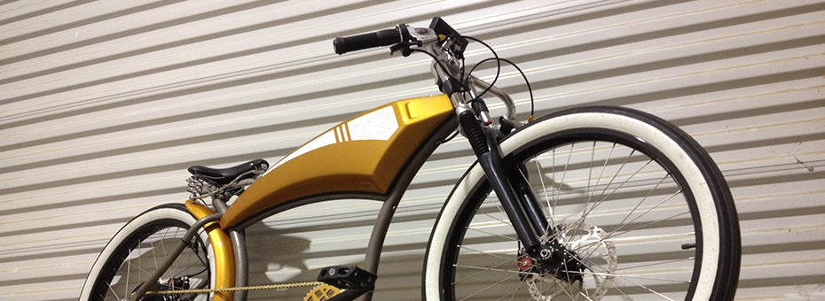 Electric Golden Rod Street Bike 2, as seen from the front right