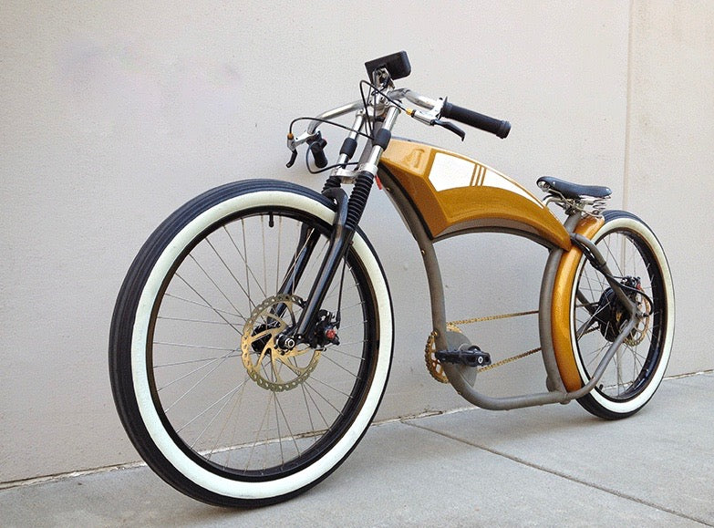 Electric Golden Rod Street Bike 3, as seen from the front left