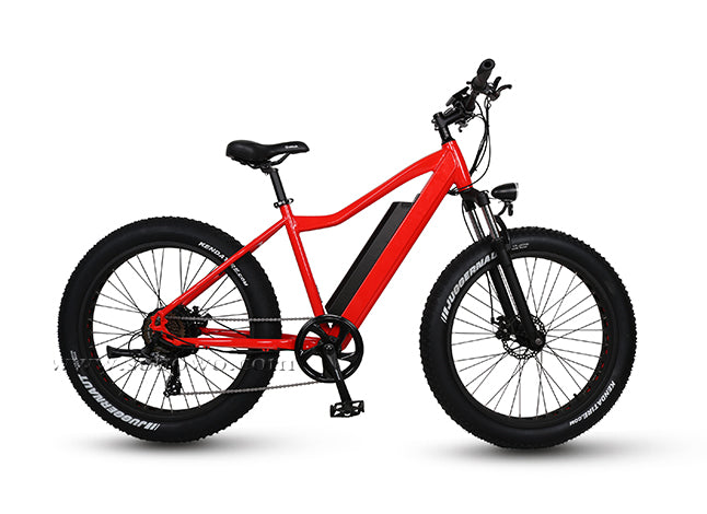 S47 Hardtail | Fat Tire | Red | Electric Bike, view from right side