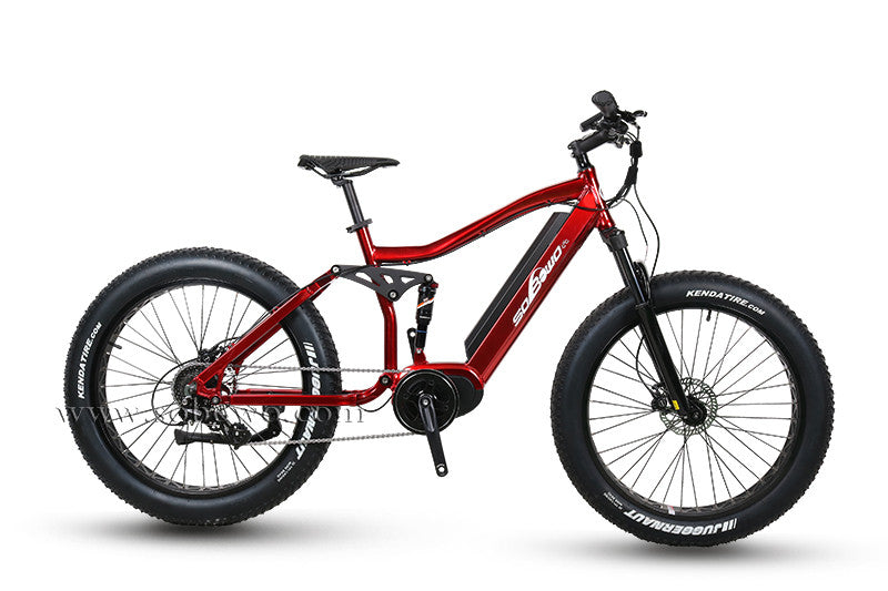 Full Suspension Fat Tire Bike with 1,000 watt Bafang Mid-Drive