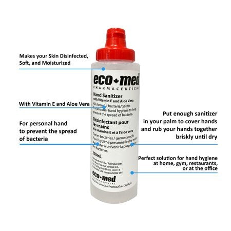 Eco Med Hand Sanitizer 250 ml MADE IN CANADA