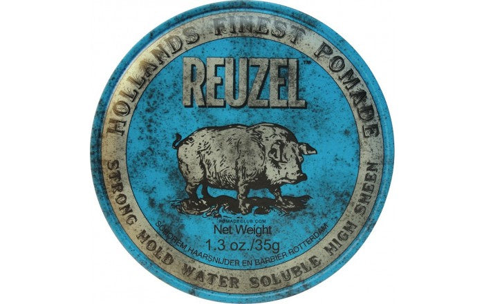 Reuzel Blue Pomade Strong Hold – High Shine – Water Soluble 4oz/113g