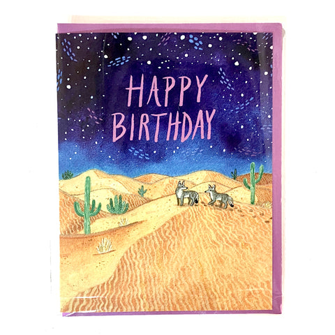 Birthday Coyote - Greeting Card