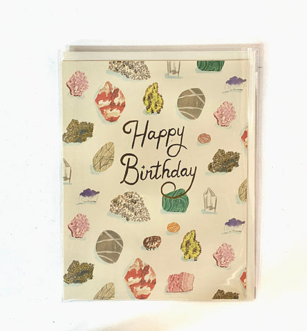 Birthday Gems Foil - Greeting Card