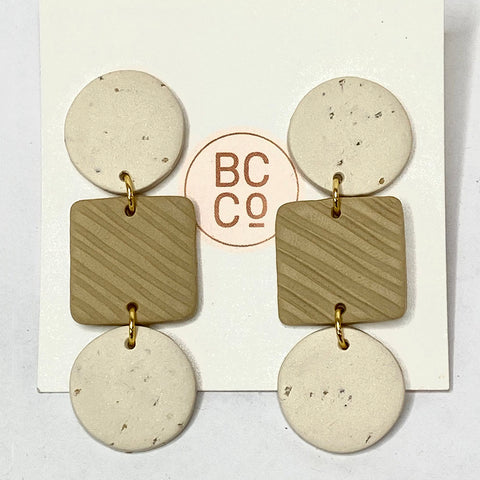 Brooke Creative Tropez Cream Latte Earrings
