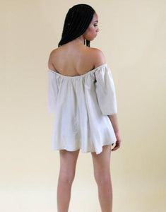 Bethany off the shoulder beige or salmon top - Sahvant