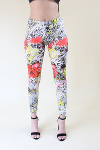 Walk This Way floral and animal print leggings - Sahvant