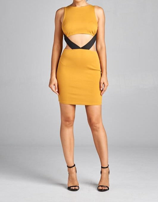 Josephine skirt set in yellow/mustard or nude - Sahvant