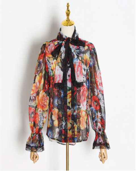 I've Got Moxy floral button up blouse - Sahvant