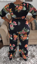 Load image into Gallery viewer, So Miami black floral jumpsuit - Sahvant