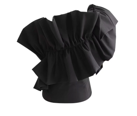 Svetlana one shoulder ruffled top - Sahvant