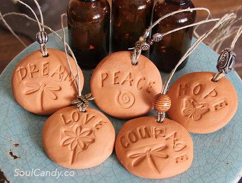 Essential Oil Diffuser Stone Set ~ Dream * Peace * Hope * Love * Courage