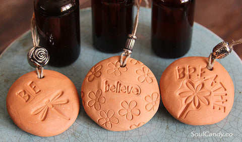 Essential Oil Diffuser Stone Trio ~ Be * Believe * Breathe