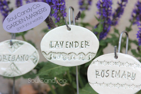 Soul Candy Co. Ceramic Garden Markers
