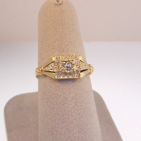 .10ct Old Mine Cut Estate Diamond Ring
