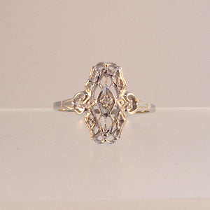 .02ct Old cut diamond Ladies Estate Styled Ring - Warren Jewelers