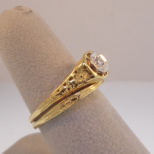 Ladies Estate Styled Wedding Set - Engagement Ring at Warren Jewelers