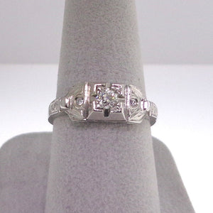.25ctw Old cut diamond Ladies Retro Styled Engagement Ring