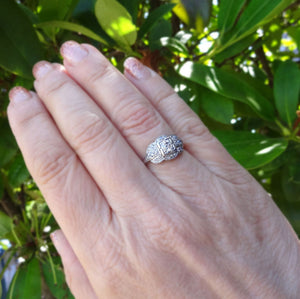 Vintage 3/4ctw Old European Cut Diamond Estate Ring Platinum