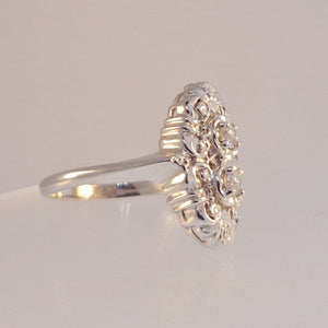 .18ctw Old Mine Cut Estate Styled Diamond Ring - Warren Jewelers