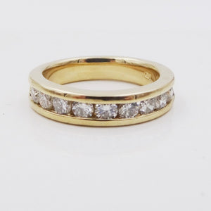 9-Stone Diamond Engagement Wedding Anniversary Ring 14K YG 3/4ctw