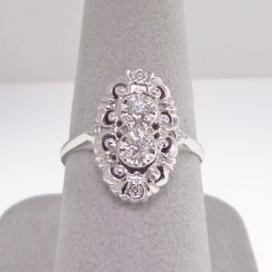 .18ctw Old Mine Cut Estate Styled Diamond Ring from Warren Jewelers
