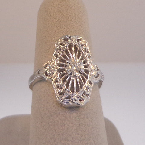 .07ctw Old European Cut diamonds Ladies Estate Styled Ring