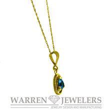 Sobriety Jewelry Topaz Necklace in 14K Gold