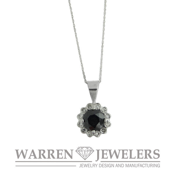 1.84ct Black and White Diamond Necklace