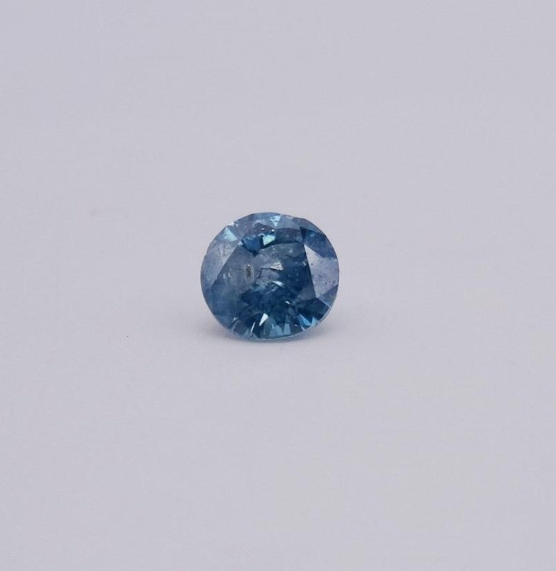 1.21CARAT ROUND BRILLIANT DIAMOND FANCY VIVID BLUE