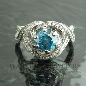 2.62ctw Blue Diamond Ring