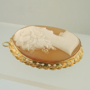 Estate Italian shell Cameo Brooch - Necklace from Warren Jewelers
