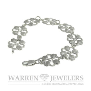 Garden Party Floral Tulip Bracelet Sterling Silver Jewelry