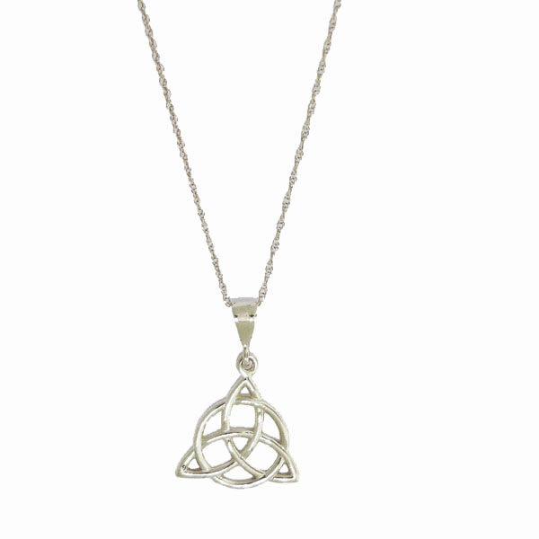 Celtic Trinity with Circle Sterling Silver Pendant Necklace