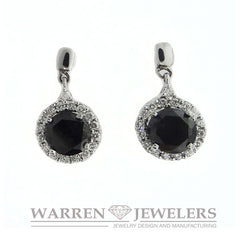 2.93ctw Black and White Diamond Earring