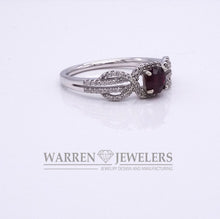 .56ct Red Ruby and Diamond White Gold Ring