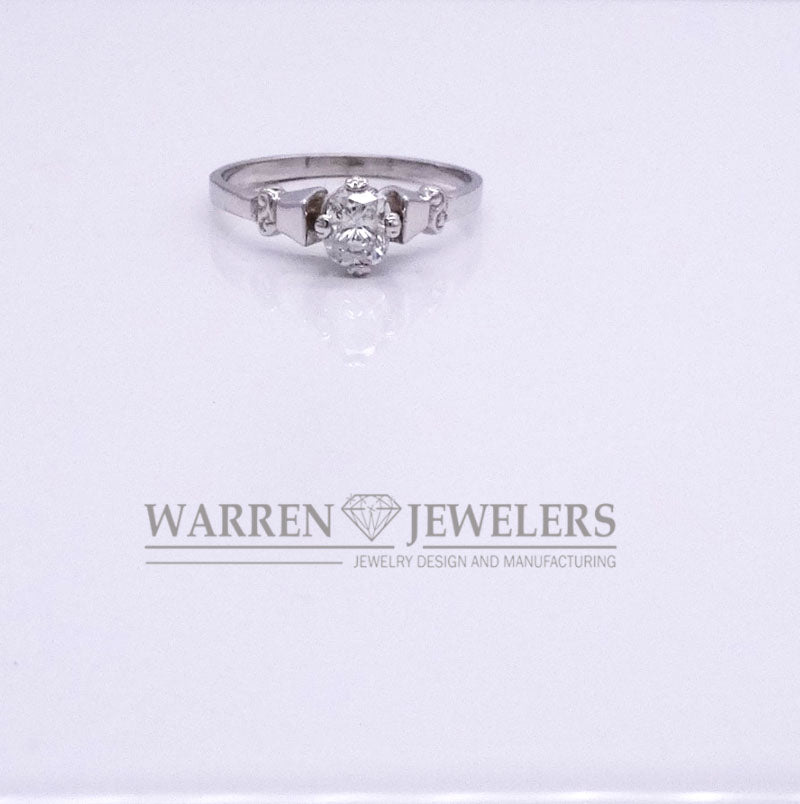 .55CT Cushion Cut Diamond Engagement Wedding Carved Ring