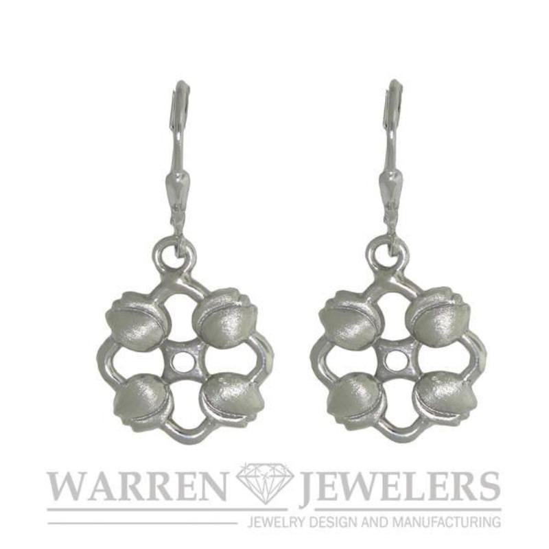 Floral Garden Party Tulip Earrings in Sterling Silver