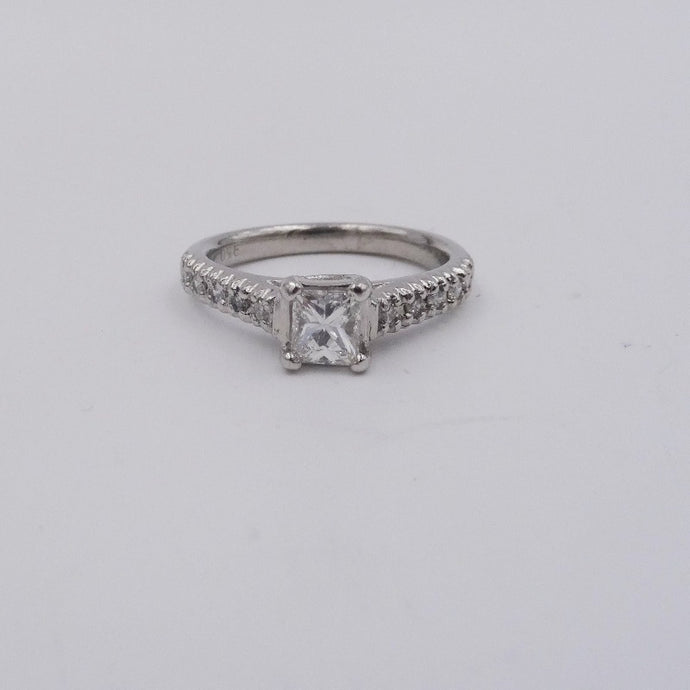 .70CTW  Princess Cut Diamond Platinum Ring