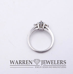 .53ctw 3-stone Blue Marquise Cut Diamond Engagement Fashion Ring 14KWG
