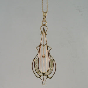 .03ct Old Mine Cut Victorian Cello Necklace from Warren Jewelers