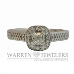 .40ctw Cushion Halo Diamond Ring