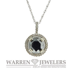 1.62ct Black and White Diamond Necklace