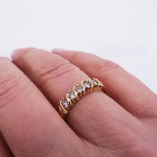 5-Stone Diamond Band 14K Yellow Gold 1/3ctw