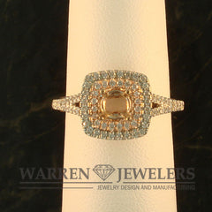 Rose Gold and White Gold Ladies Diamond Ring Mounting